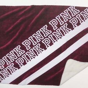 Brand New Victoria's Secret Pink Shepra Blanket